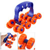 Home Health Care Handheld 16 Wheels Blue Orange Roller Massager
