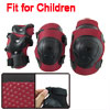 Red Black Skating Cycling Elbow Knee Wrist Support Pad Set