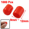 1000 x Red Soft Plastic Universal RCA Jack Cover Caps