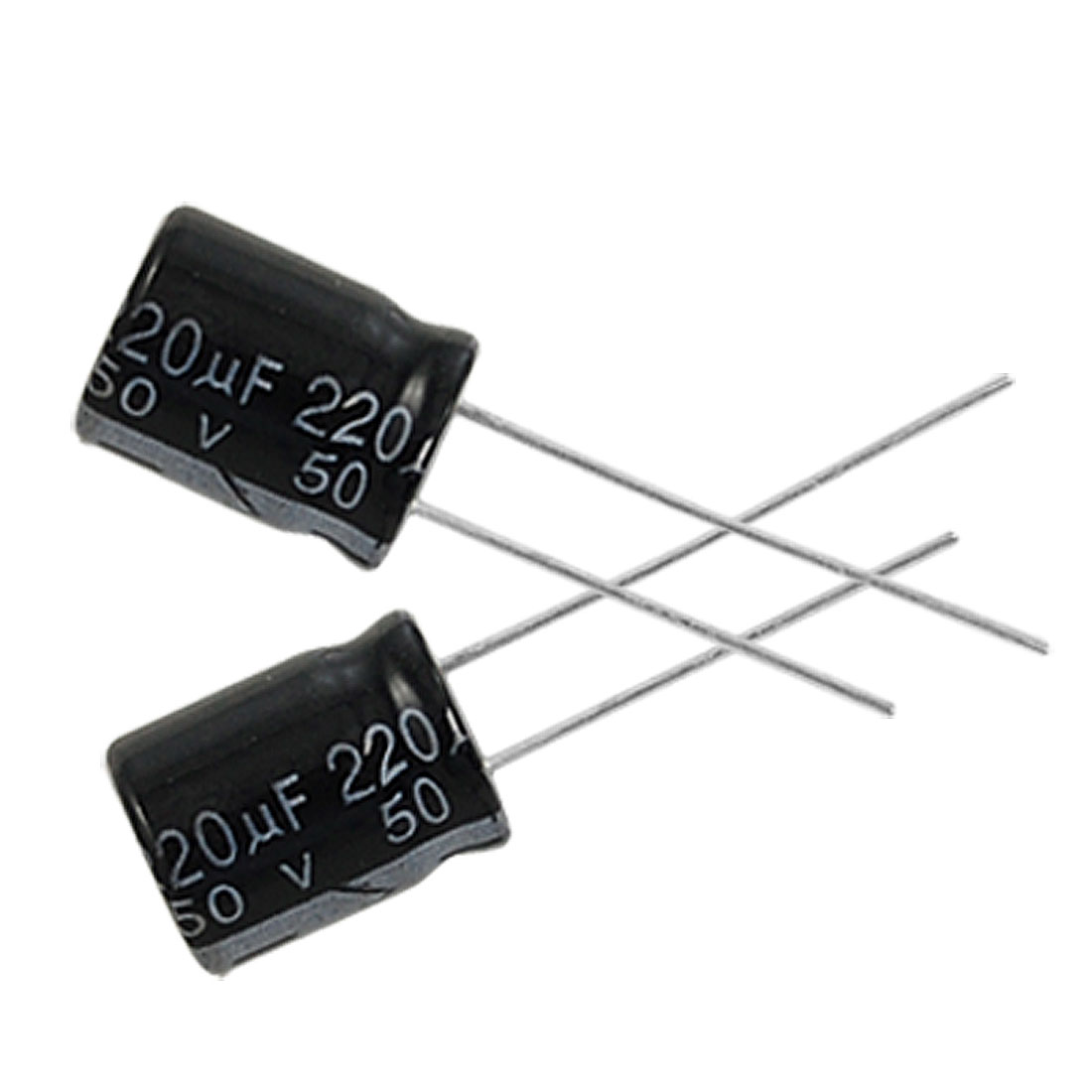 5 x 220uF 50V 105C Radial Electrolytic Capacitor 10x13mm