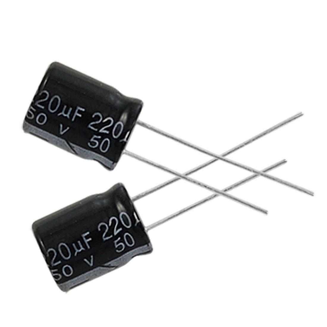 15 x 220uF 50V 105C Radial Electrolytic Capacitor 10x13mm