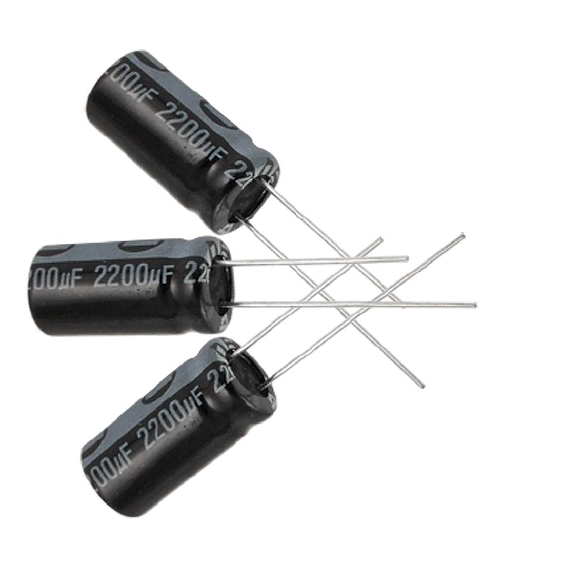 5 x 2200UF 16V 105C Radial Electrolytic Capacitor 10x20mm