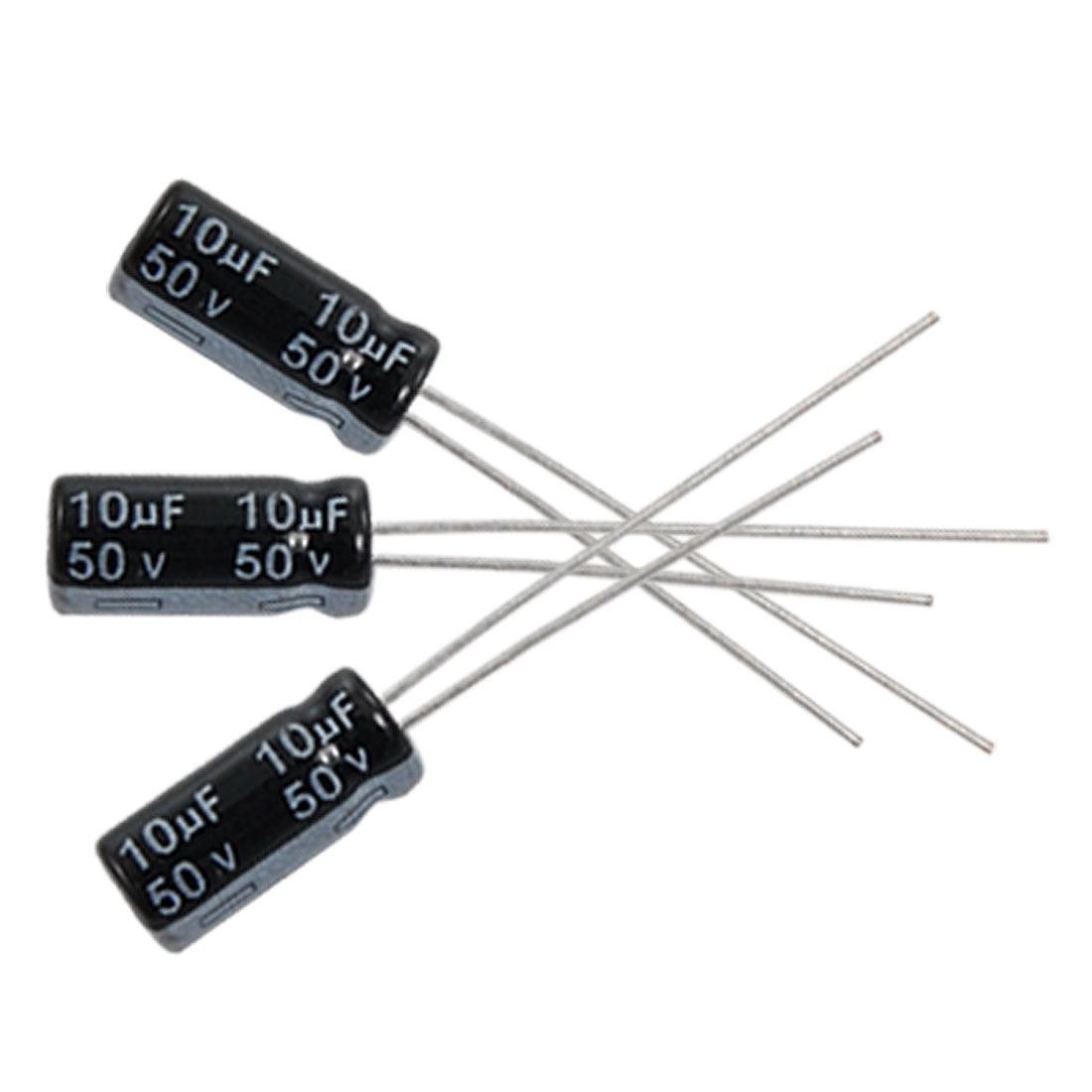 10 x 10uF 50V 105C Radial Electrolytic Capacitor 5x11mm