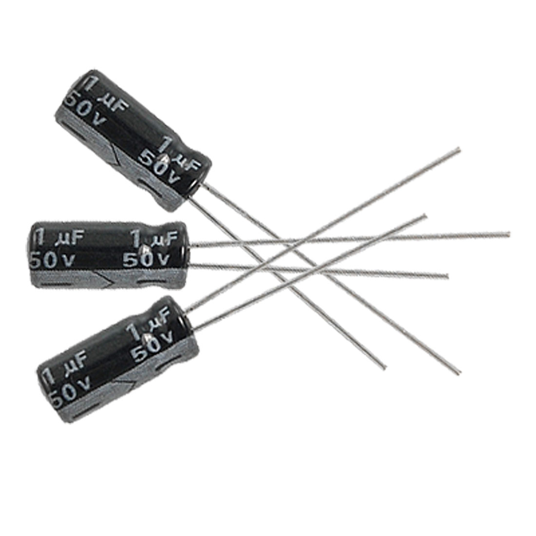 20 x 1uF 50V 105C Radial Electrolytic Capacitor 5x11mm