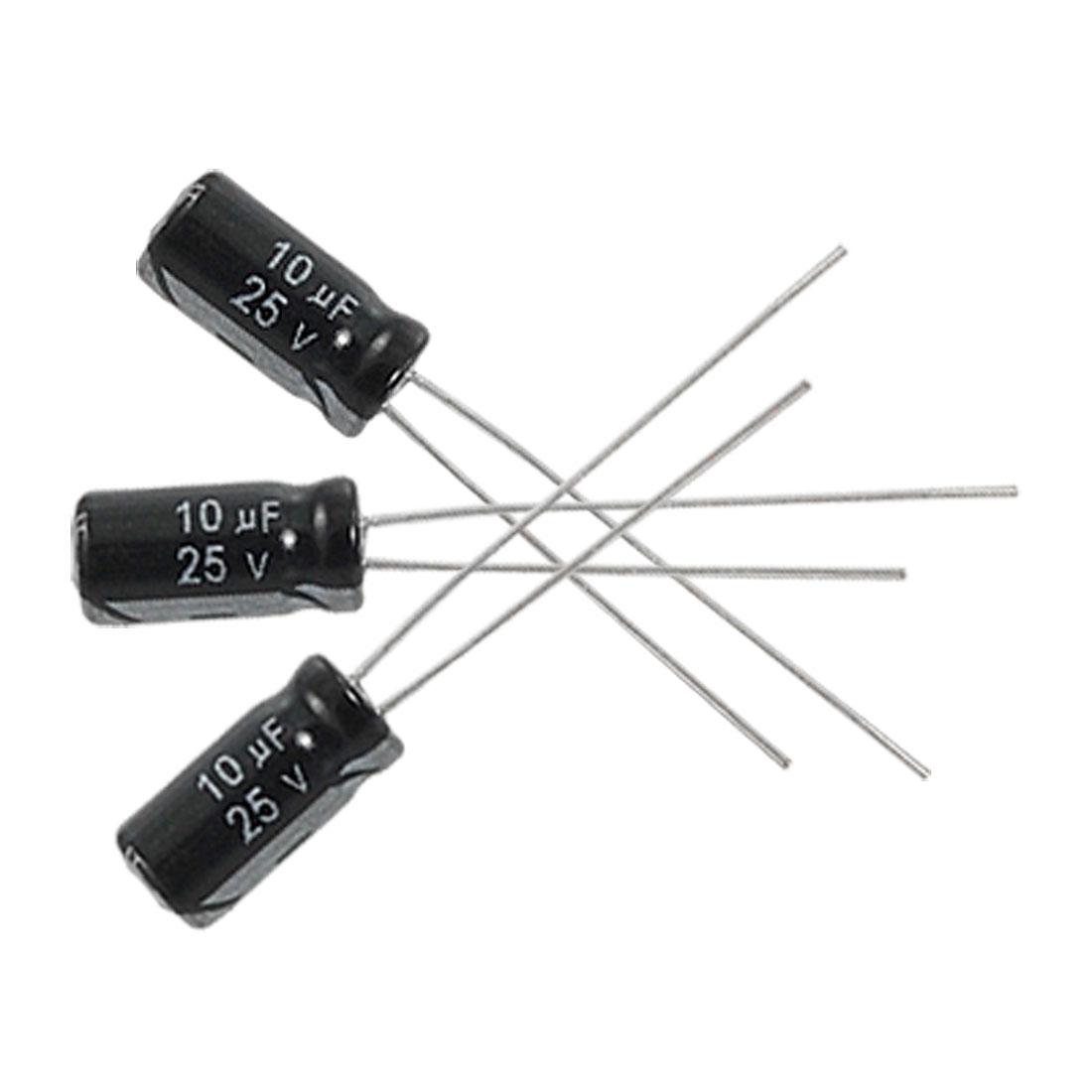 20 Pcs 5x11mm 10uF 20% 25V 105C Radial Aluminum Electrolytic Capacitor