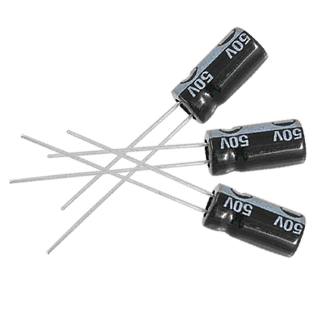 20 x 33uF 50V 105C Radial Electrolytic Capacitor 6x12mm