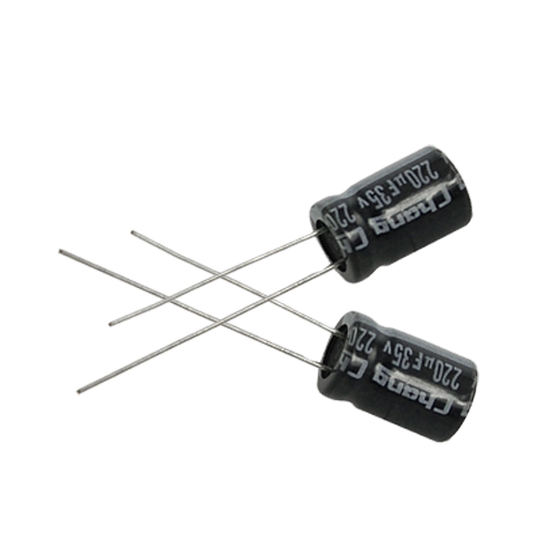 20 x 220uF 35V 105C Radial Electrolytic Capacitor 8x12mm