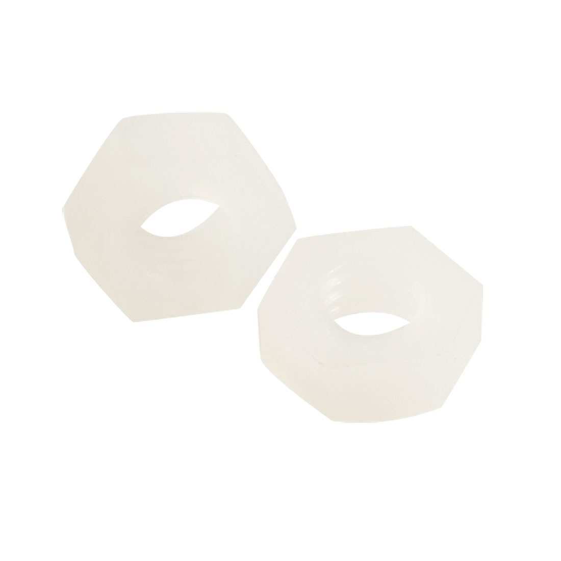 "1/8"" Female Thread Plastic Hexagonal Hex Screw Nut White 20 Pcs"