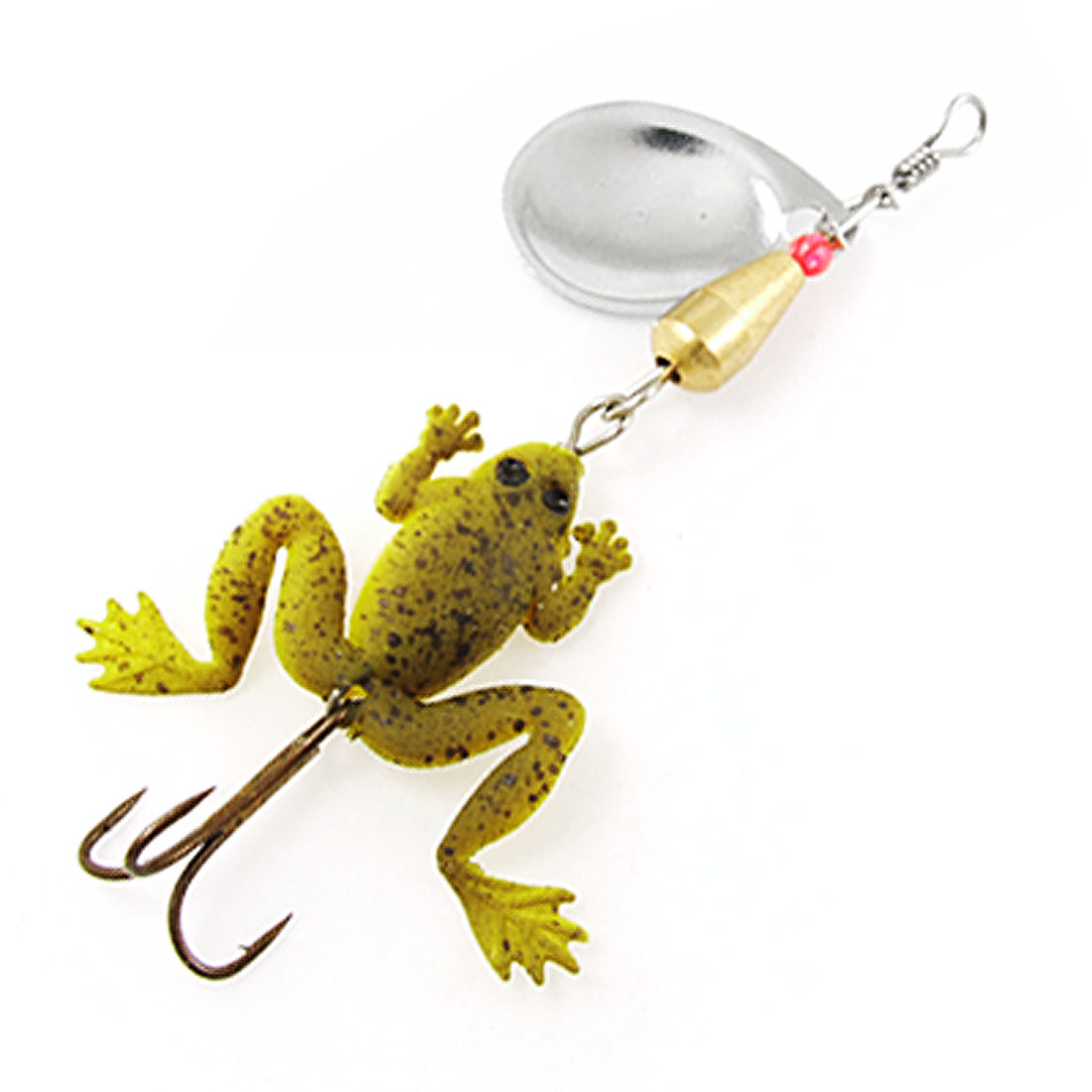 Soft Gel Frog Lure Bait Metal Fishing Triple Treble Hook Fishhook