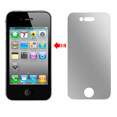 2 Pcs Protective Privacy LCD Screen Guard Film for iPhone 4 4G
