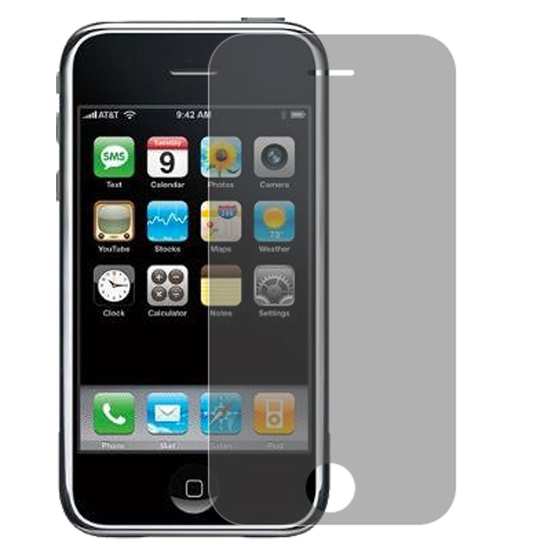 2 Pcs Gray Privacy Screen Protective Film Guard for Apple iPhone 3G