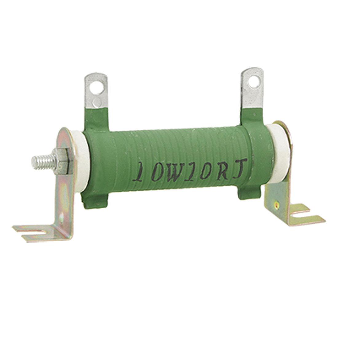 Ceramic Tube Fixed Type Wirewound Resistor 10W 10 Ohm 10R