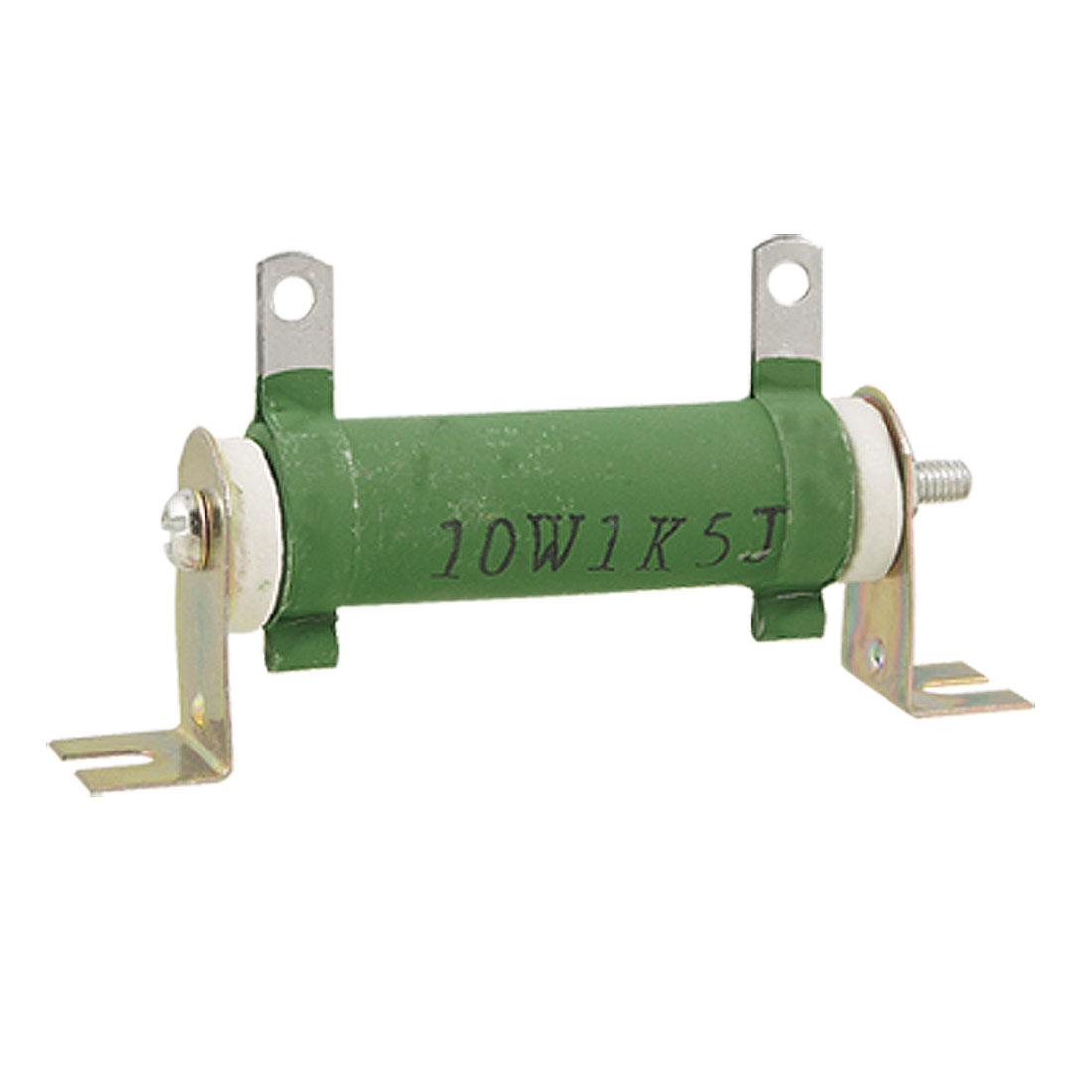 Ceramic Tube 1K5 1.5K Ohm 10W Watt Wirewound Resistor