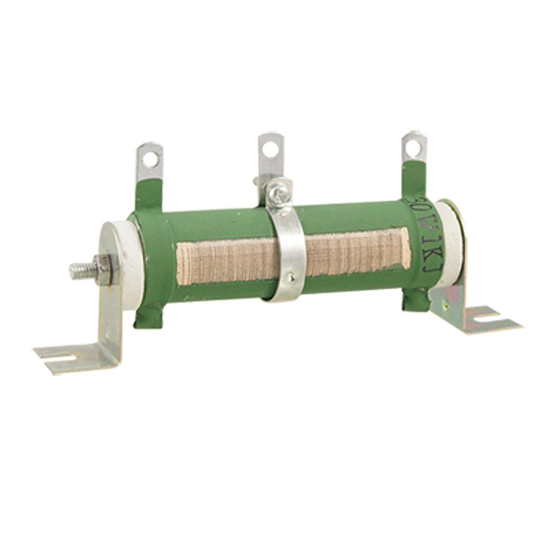Ceramic Tubular Adjustable Resistor Rheostat 30W 1K Ohm 1KR