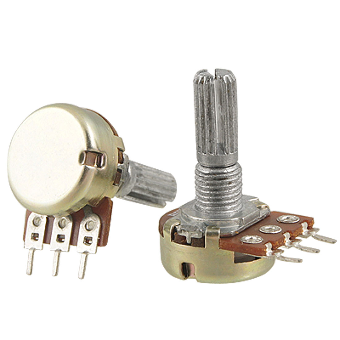 2 Pieces B5K 5K ohm Single Linear Taper Ratory Potentiometers