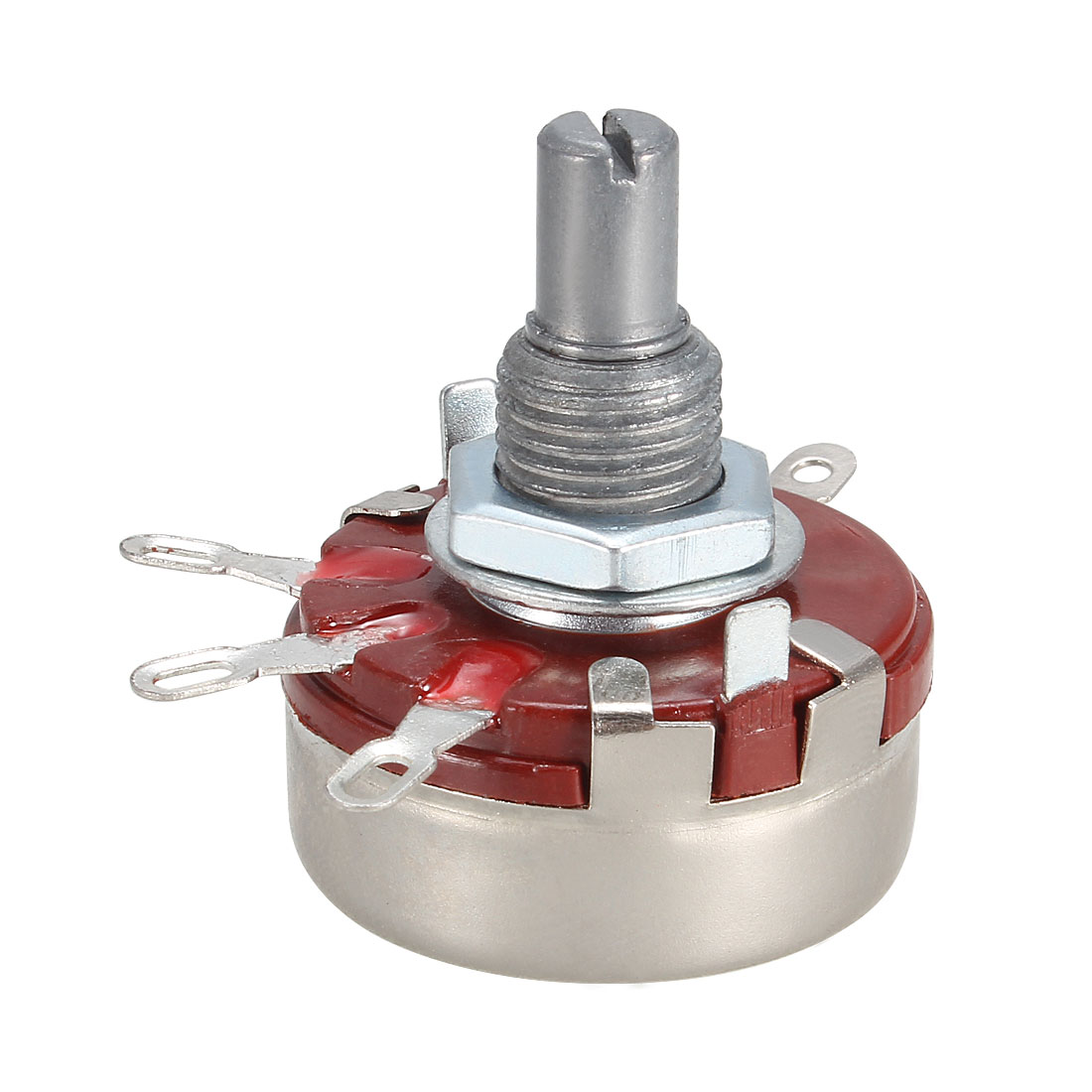 WTH118-1A 2W 220K ohm Single Turn Rotary Taper Carbon Potentiometer