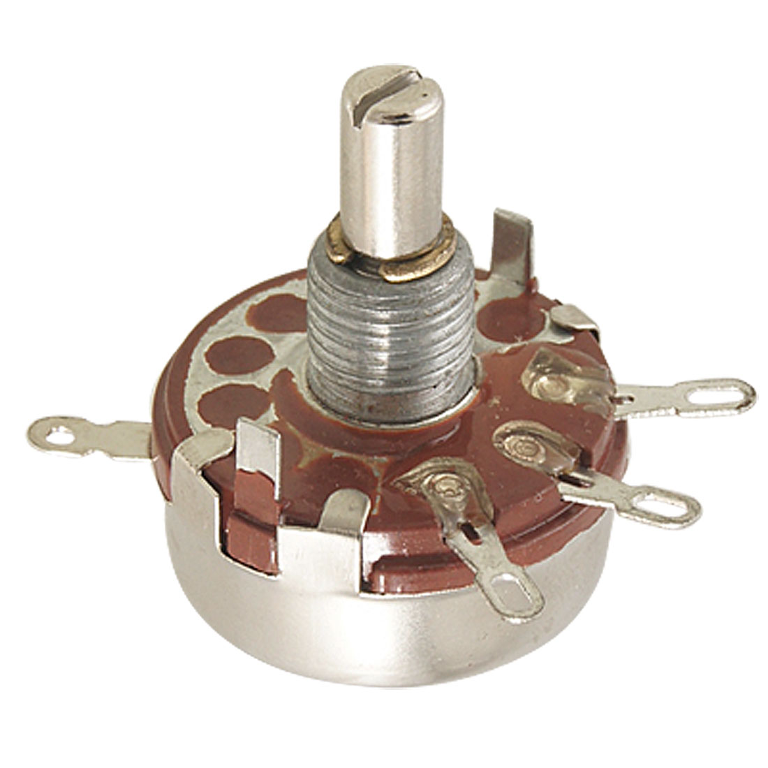 WH118-I 2.2K ohm 2W Carbon Composition Rotary Taper Potentiometer