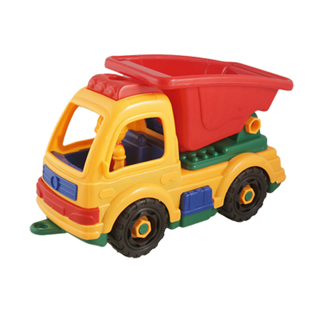 Child Yellow Red Plastic DIY Assembly Engineering Van Toy Gift