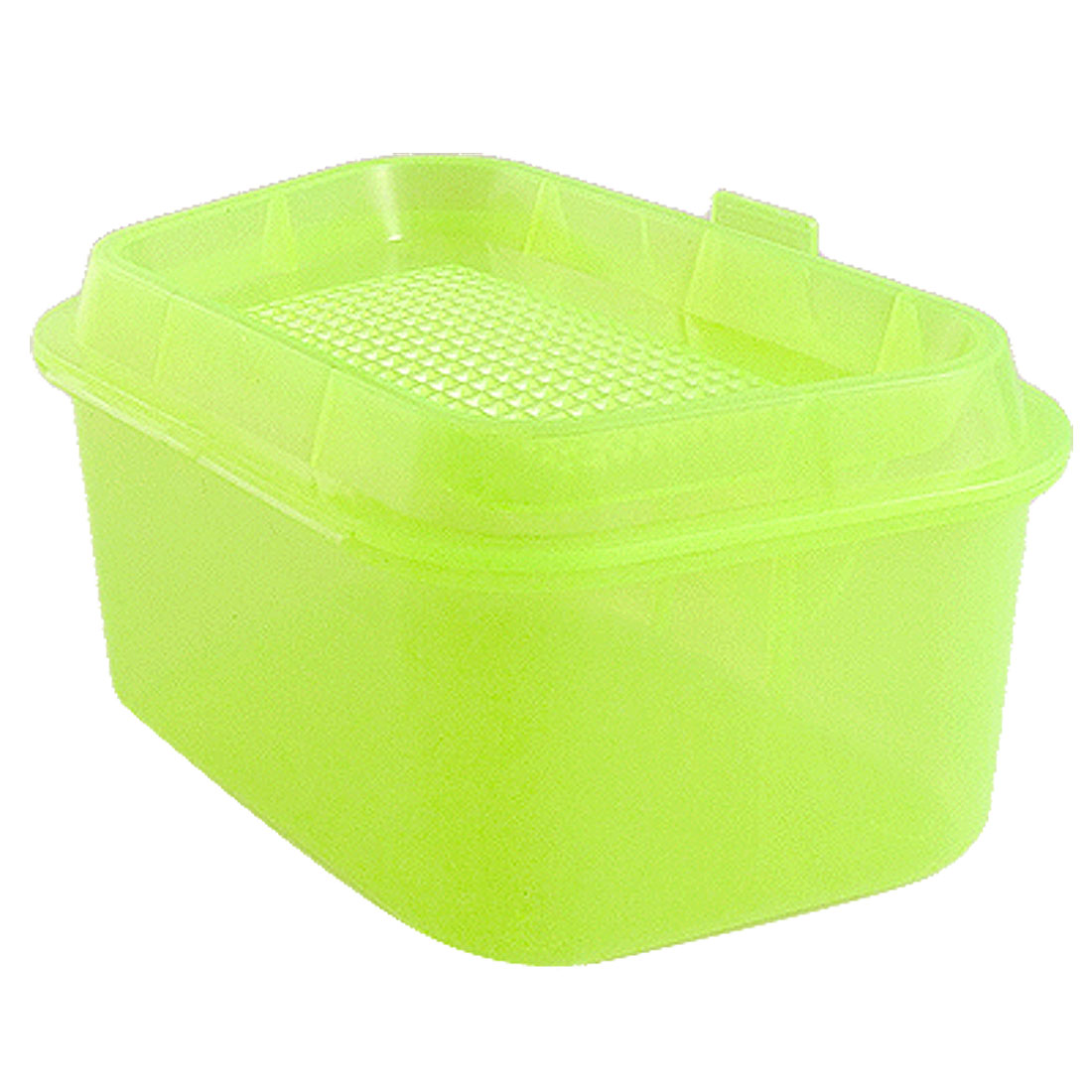 Clear Yellow Green Portable Fishing Bait Lure Storage Case Box