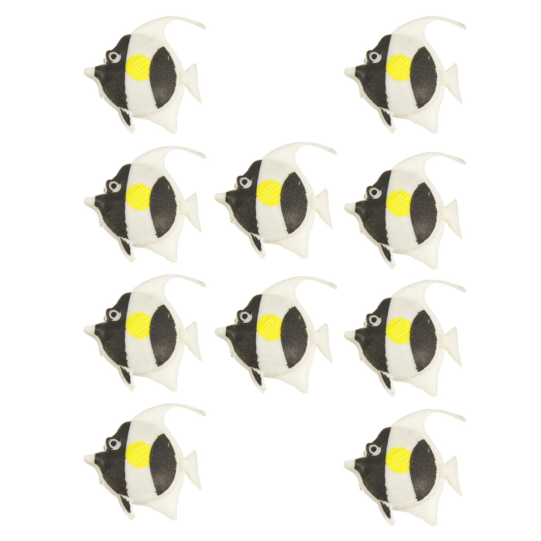 Aquarium Tank Decor 10 Pcs Artificial Black White Mini Floating Fish