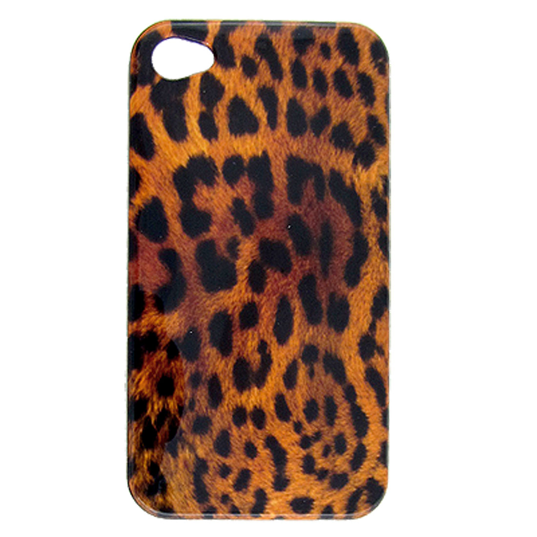 Leopard Print Hard Plastic Back Case Shell for iPhone 4 4G
