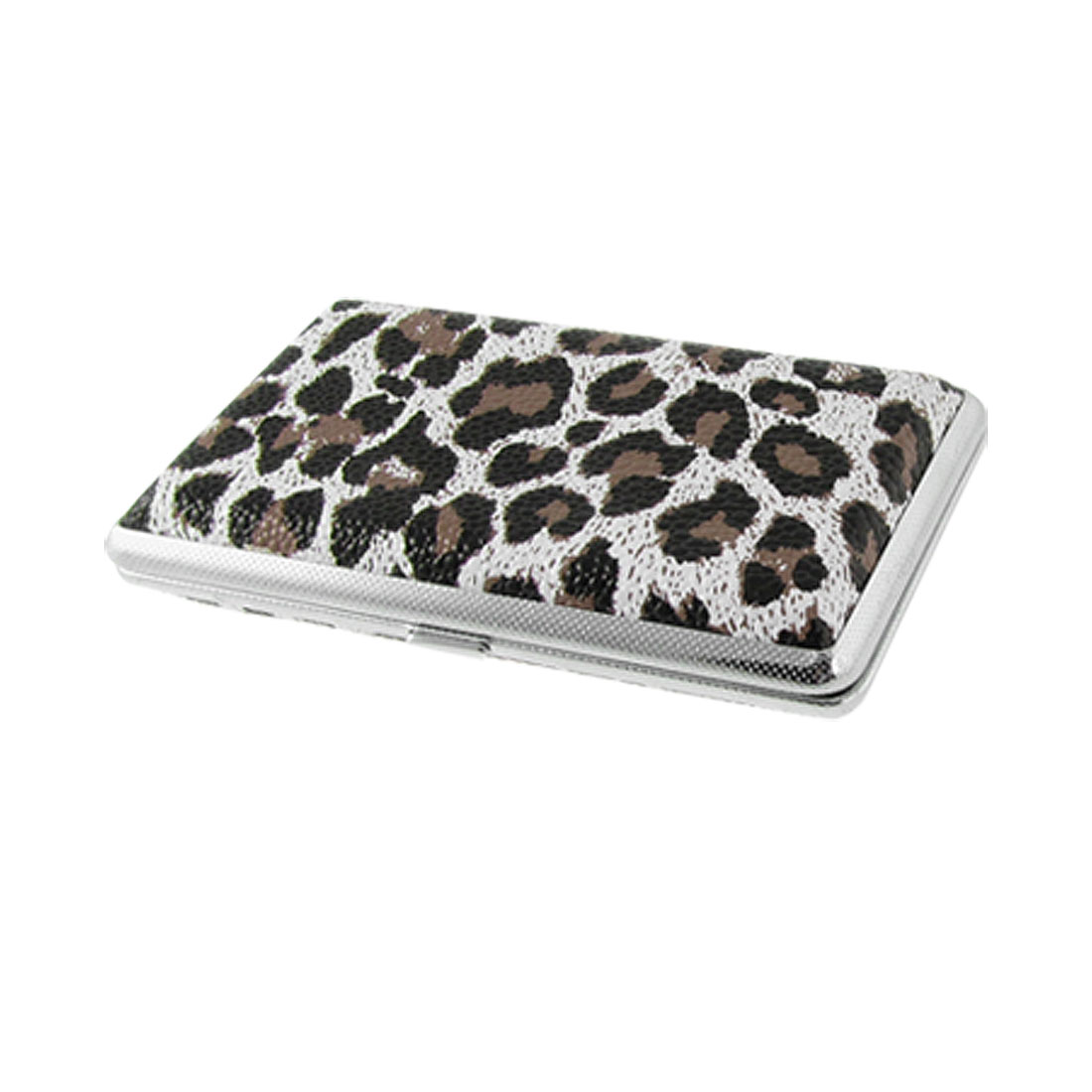 Leopard Pattern Tobacco Cigarette Rectangle Box Holder Case