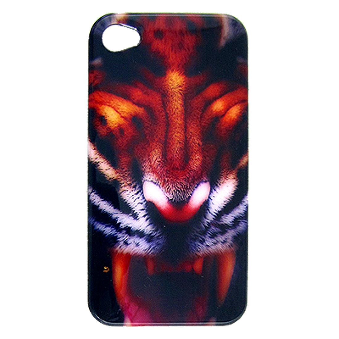 Tiger Head Print Hard Plastic Smooth Back Cover for iPhone 4 4G