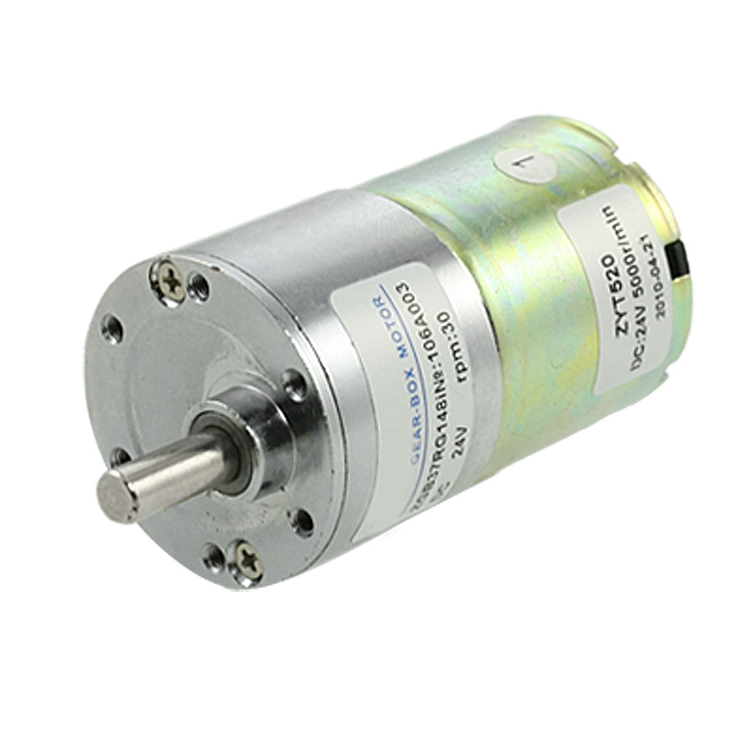 6mm Dia Shaft DC 24V 0.33A 30RPM Speed Reducing Gearbox Motor