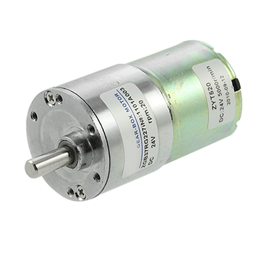 Electric 37mm Gearbox Diameter DC Geared Motor 0.33A 20RPM 24V