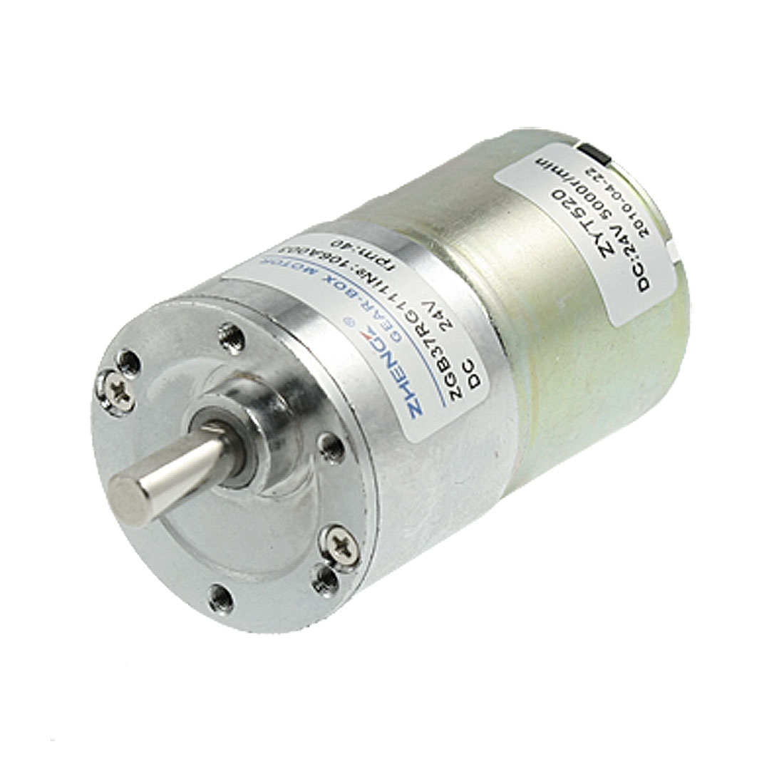 DC 24V 0.33A 40RPM Electric Speed Reducing Gearbox Motor