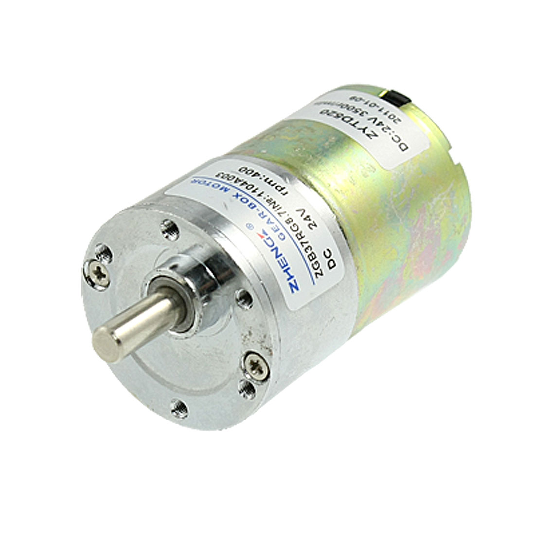 400RPM Output Speed 37mm Diameter 24V 0.33A DC Geared Motor