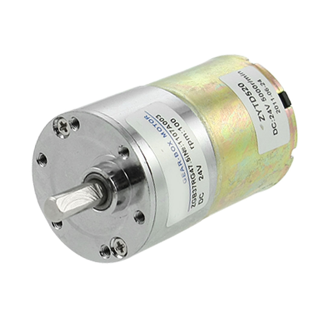 100RPM Output Speed 24V 0.33A Speed Reducing DC Geared Motor