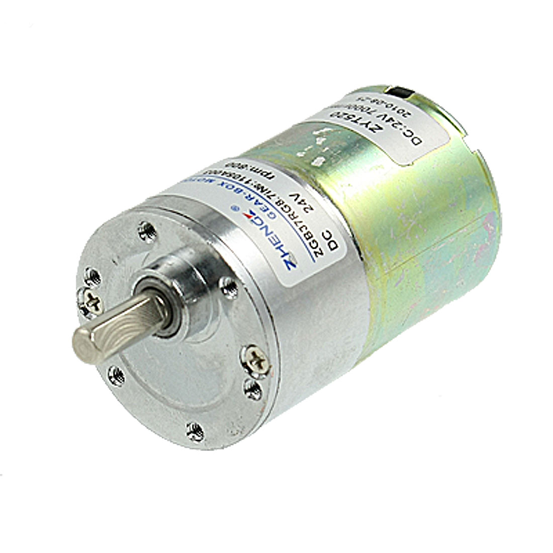 800 RPM DC 24V 6mm Shaft Geared Box Motor for Electrical Machine