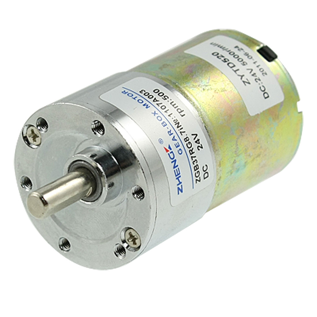 "Replacement Electrical DC 24V 500 RPM 1 1/2"" Geared Box Motor"
