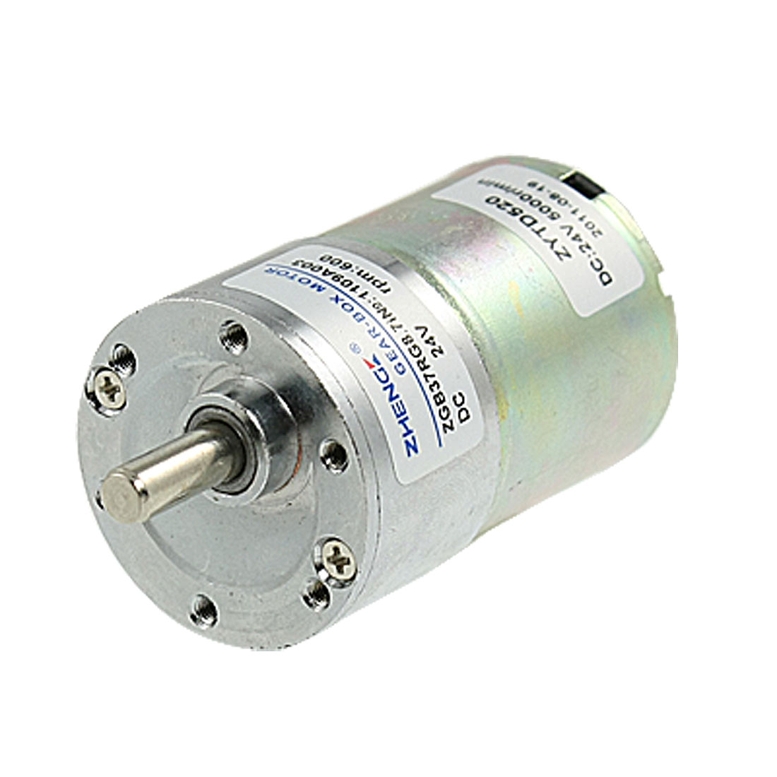 6mm Diameter Output Shaft 24V 0.33A DC Speed Reduce Gear Motor 600RPM