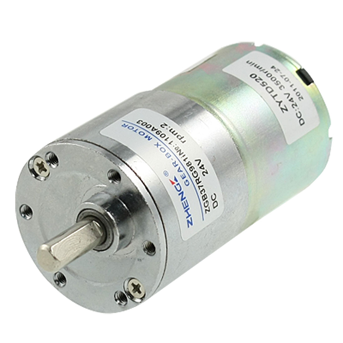 2RPM 16.5kg.cm 24V 0.33A Speed Reducing DC Geared Motor