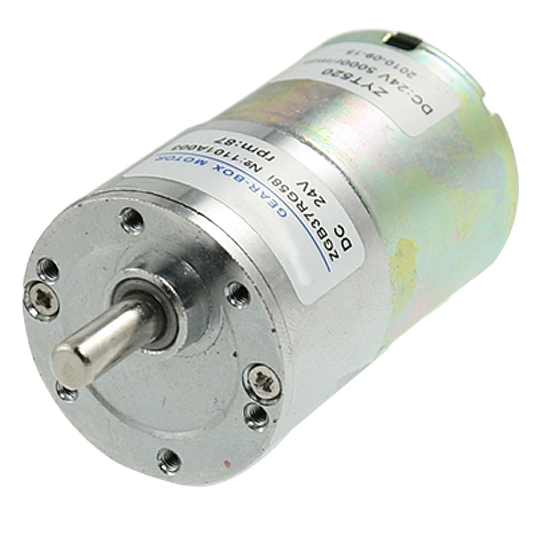 DC 24V 0.33A 87RPM 6mm Dia Shaft Speed Reducing Gearbox Motor