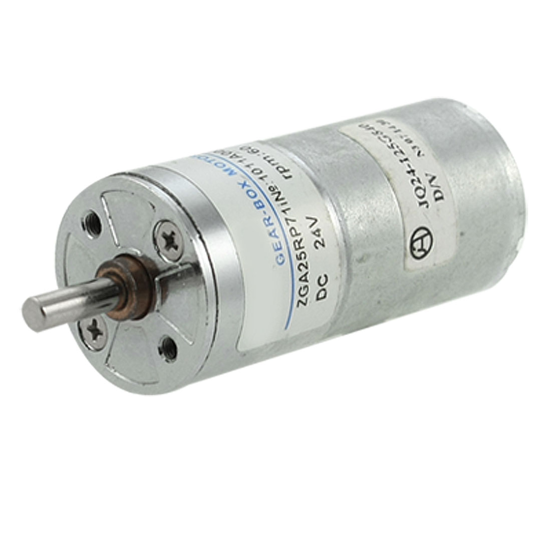 4mm Diameter Output Shaft 24V 0.13A DC Gear Motor 60RPM