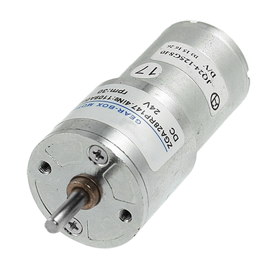 30RPM Output Speed 28mm Diameter 24V 0.13A DC Geared Motor