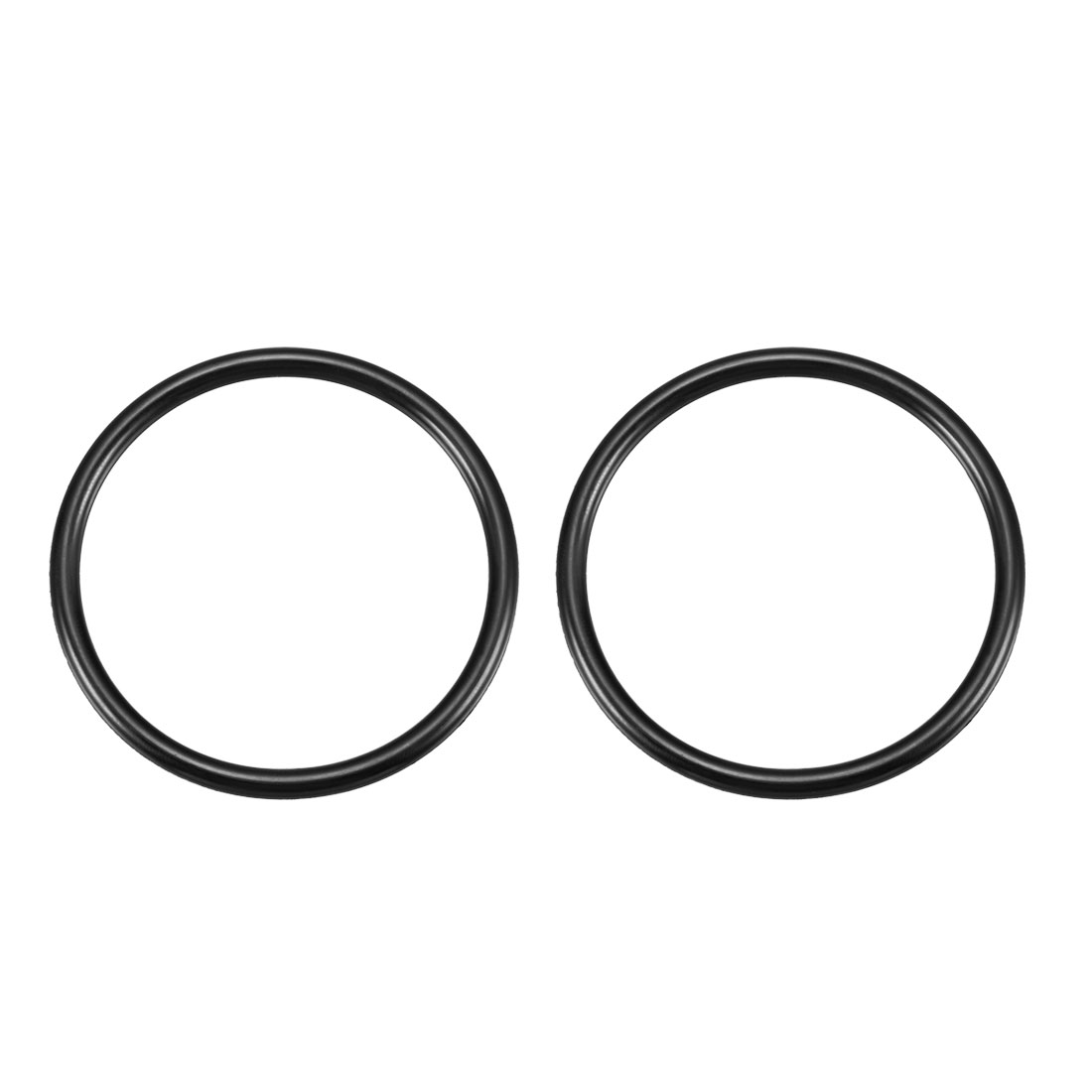 "Black 2.2"" External Diameter Rubber Oil Seal O Ring Gasket 2 Pcs"