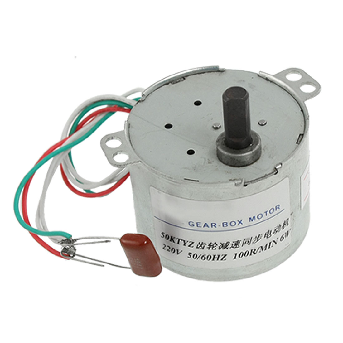 50mm Diameter AC 220V 100RPM Synchronous Reduction Gear Motor
