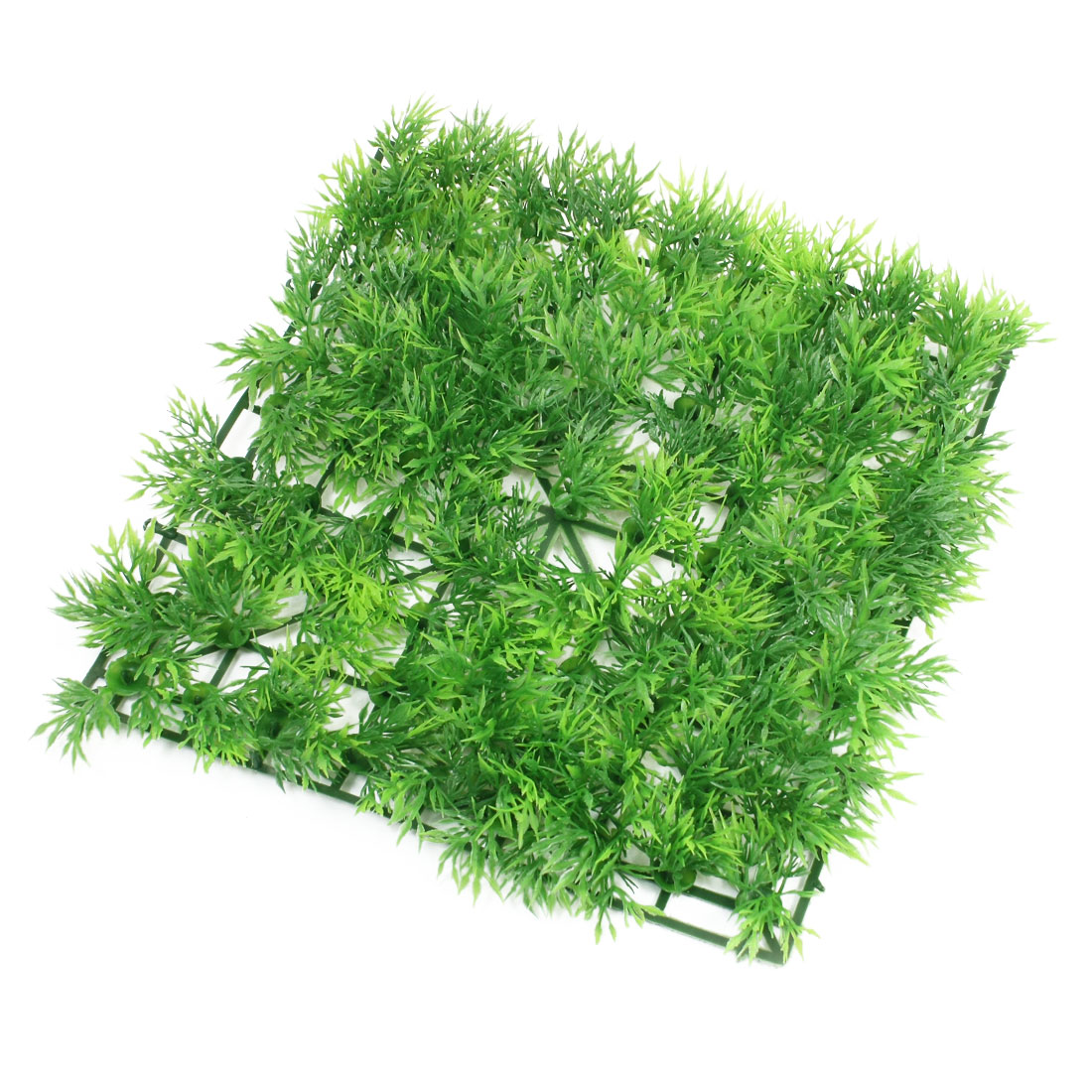 "9.1"" x 9.1"" Aquatic Green Square Artificial Grass Plant Lawn for Aquarium Fish Tank"