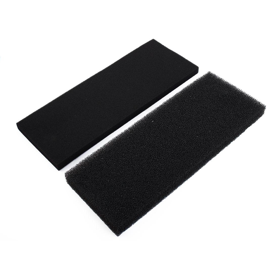 2 Pcs Rectangular Biochemical Filter Cotton Bio Sponge Pad Black for Fish Tank