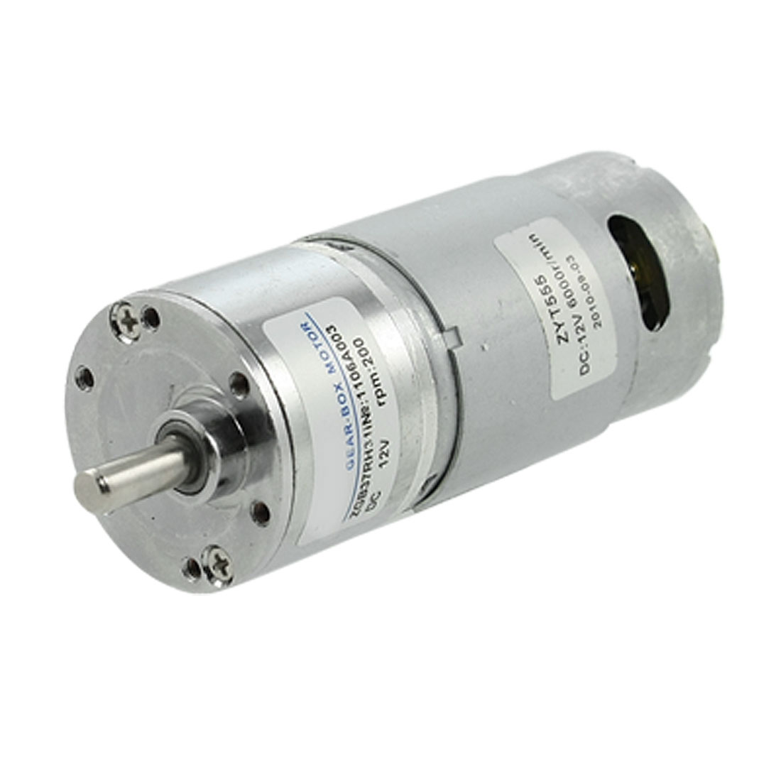 200RPM 12V 2.1A 5.8Kg.cm Torque DC Geared Motor Gear Reduction Box