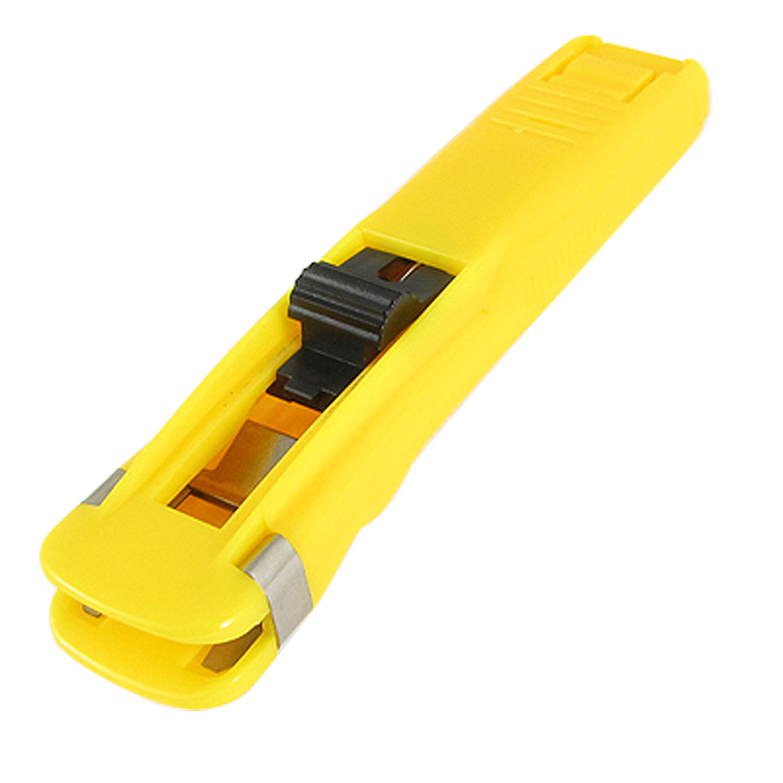 Office Plastic Shell Paper Clamp Clip Dispenser Yellow