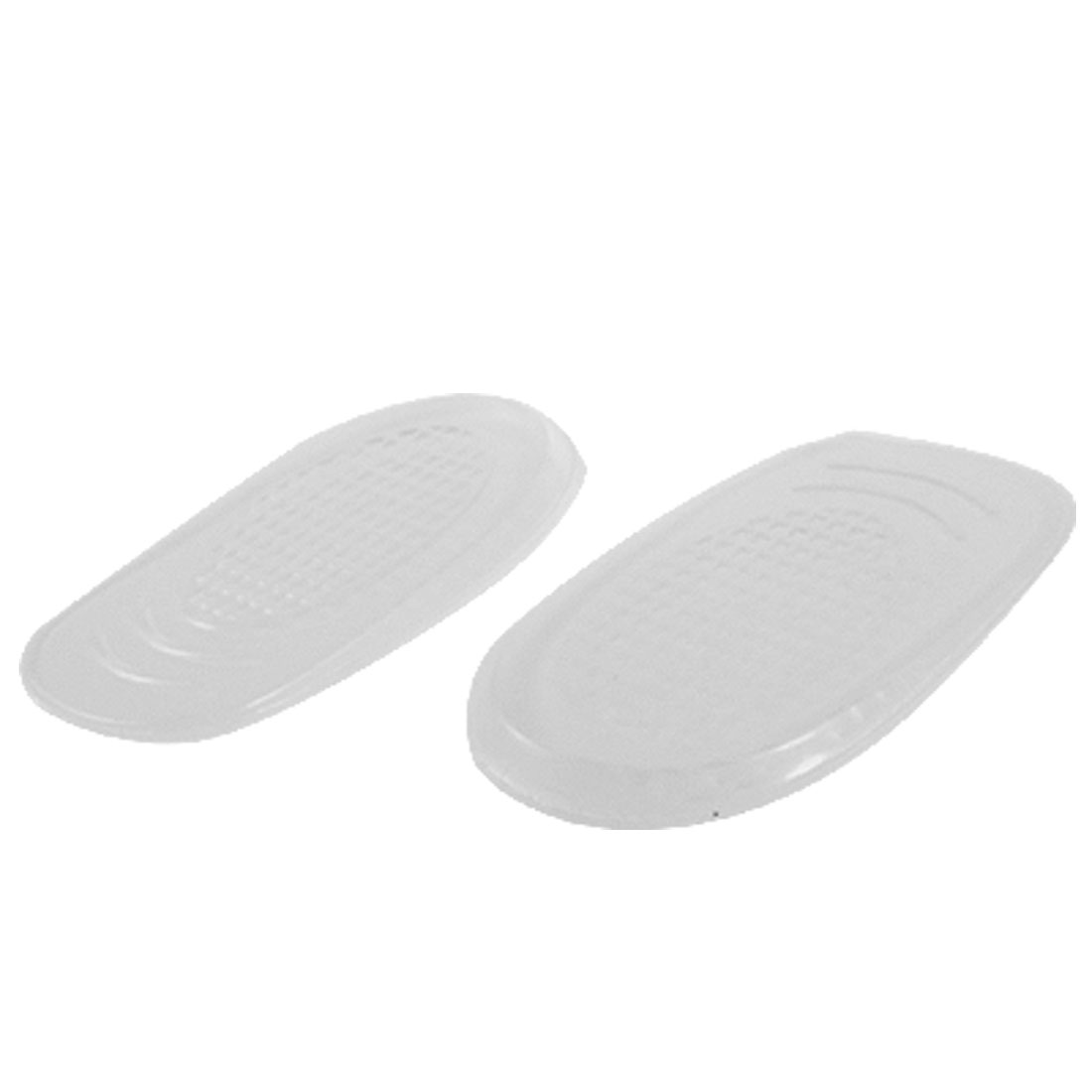 Pair Clear Silicone Nonslip Heel Insoles Pad for Woman Man