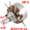 WTH118-1A 2W 1M ohm Single Turn Rotary Taper Carbon Potentiometer