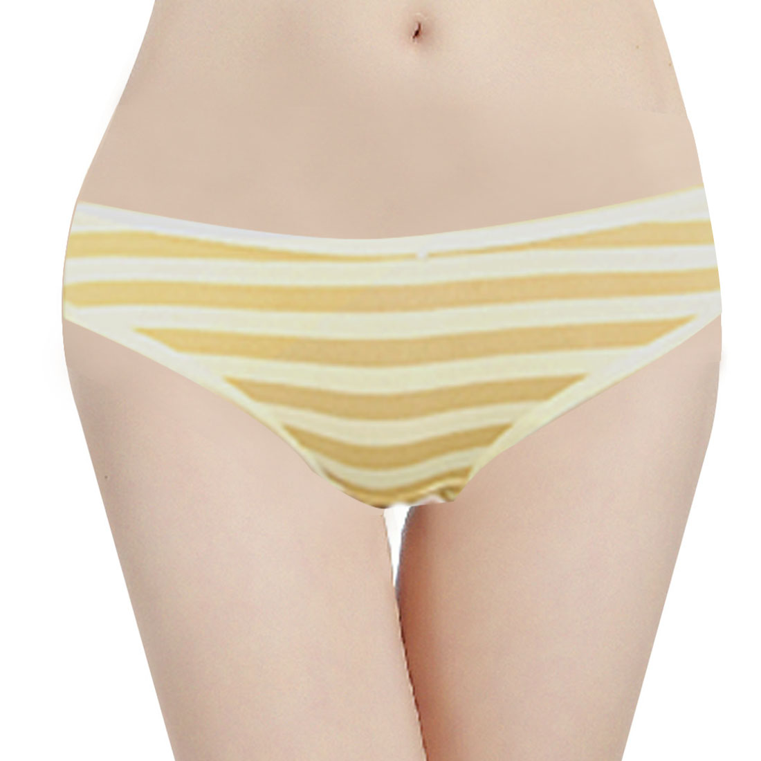 Women In Underpants Only Woman low waist stripe patternWomen In Underpants Only
