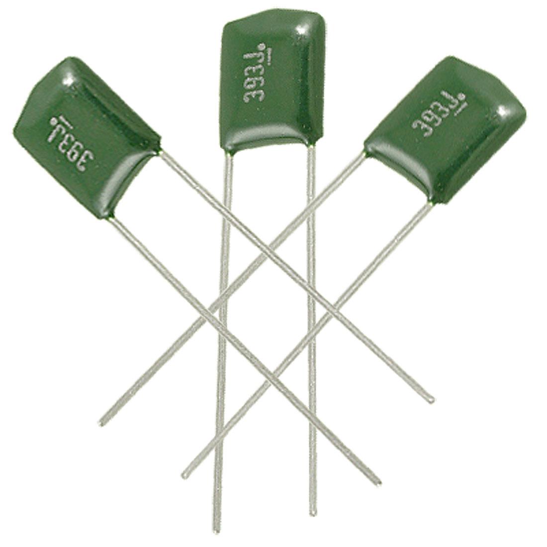100 x DIP Radial Leads 0.039uF 5% 100V Polyester Film Mylar Capacitors