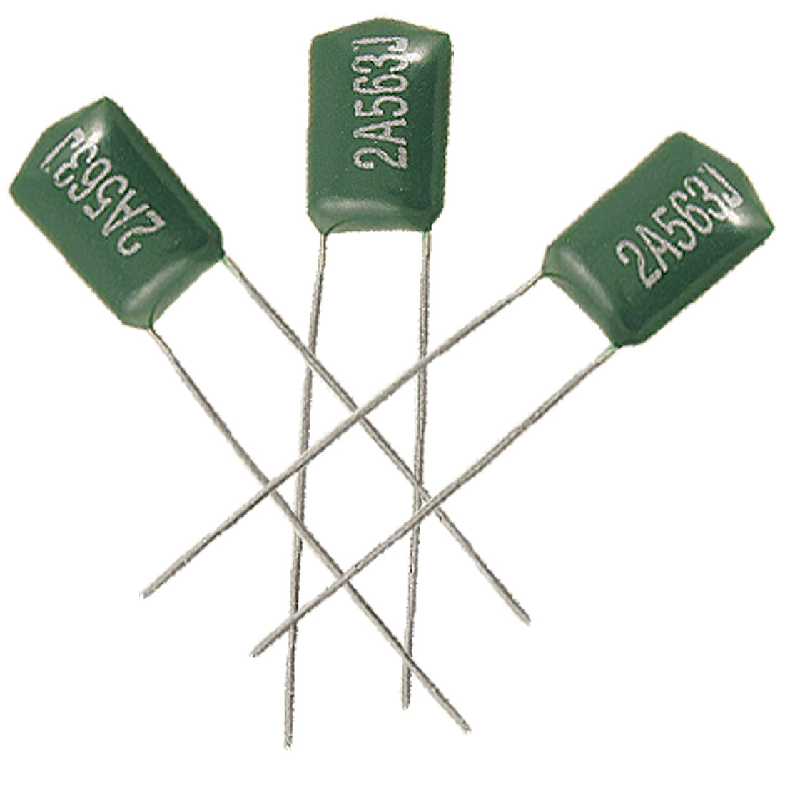 0.056uF 5% 100V Radial Leads Polyester Poly Film Capacitors 100 Pcs